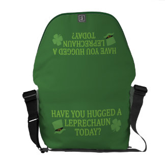 Leprechaun Hug messenger bag