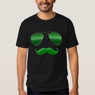 Leprechaun in Green Disguise Moustache T-Shirt