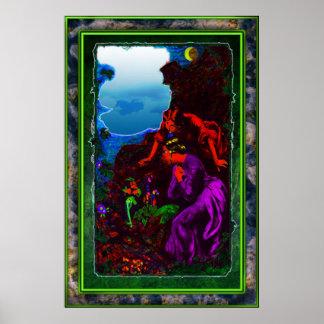 Leprechaun in moonlight Print