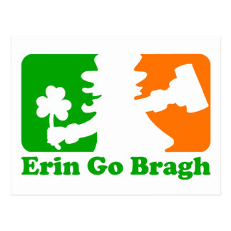 Leprechaun Insignia: Erin Go Bragh Postcard