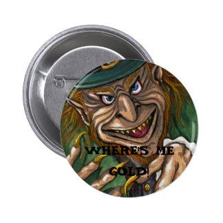 LEPRECHAUN Irish Button