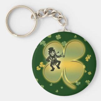 Leprechaun irish luck shamrocks keychains