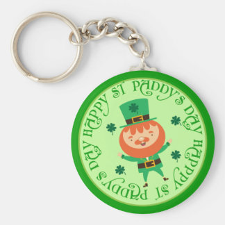 Leprechaun Irish St Paddys Day Lucky Keychain