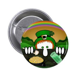Leprechaun Kilroy Button