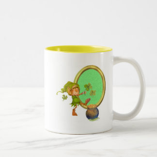 Leprechaun Luck Two-Tone Coffee Mug