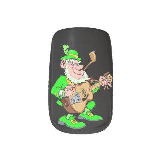Leprechaun Musician Fingernail Transfer