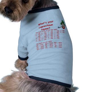 leprechaun name dog clothes