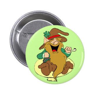 Leprechaun on a Mushroom Button