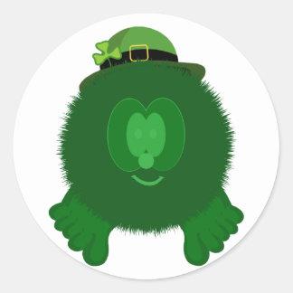 Leprechaun Pom Pom Pal Stickers
