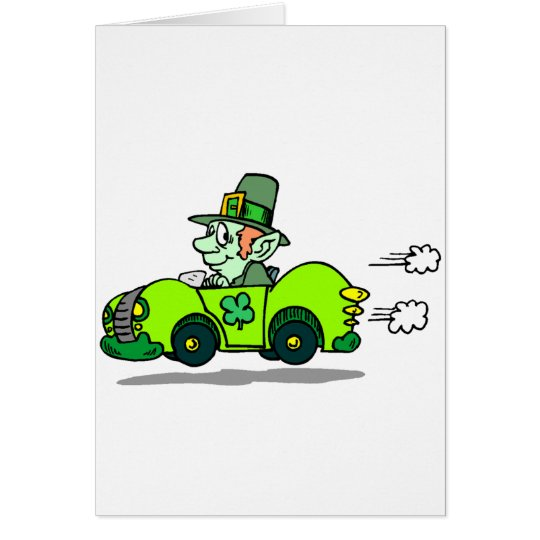 Leprechaun Racer Card