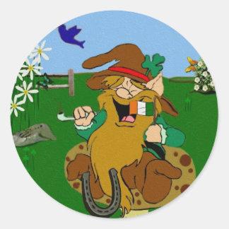 Leprechaun Round Sticker