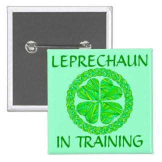 Leprechaun Saint Patrick s Day Shamrock Art Button