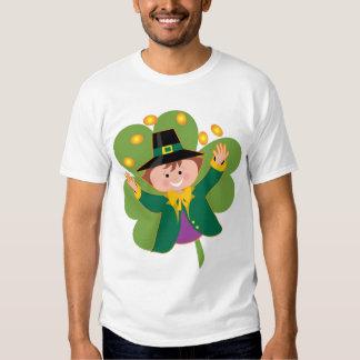 leprechaun shamrock t-shirt
