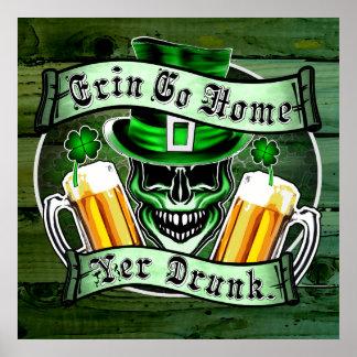 Leprechaun Skull 3: Erin Go Home Yer Drunk Print