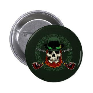 Leprechaun Skull Button