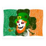 Leprechaun Skull Postcard
