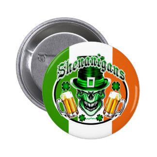 Leprechaun Skull: Shenanigans 3 6 Cm Round Badge