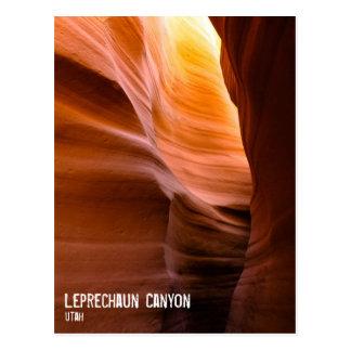 Leprechaun Slot Canyon, Utah Postcard