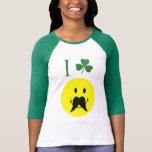 Leprechaun Smiley Face Moustache T-Shirt