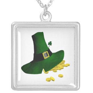 Leprechaun Square Pendant Necklace