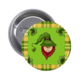 Leprechaun St Patrick s Day Pin Button