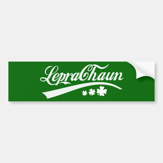 Leprechaun St Patricks Day Irish Shamrock Bumper Sticker