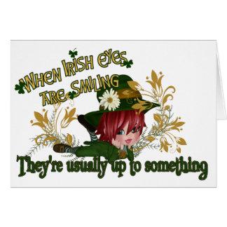 Leprechaun Up to Something - Customizable Card