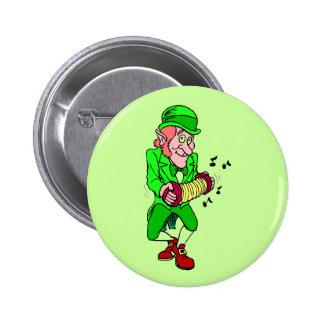 Leprechaun with Accordian Button