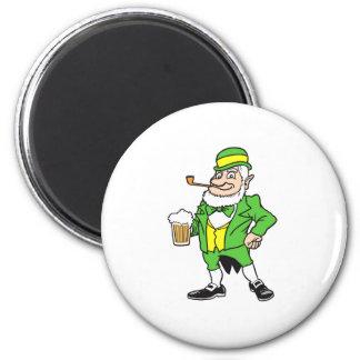 Leprechaun with beer magnet