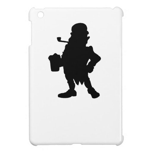 Leprechaun With Beer Silhouette Cover For The iPad Mini