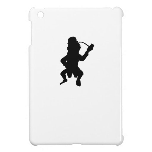 Leprechaun With Pipe Silhouette iPad Mini Cases