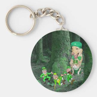 Leprechauns! Basic Round Button Key Ring