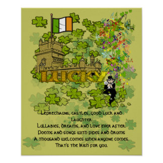 Leprechauns, Castles, Good Luck and Laughter Poster