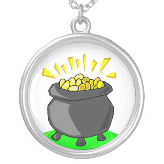 Leprechauns Pot O Gold Necklace
