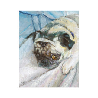 LePug Giclee Stretched Canvas Print