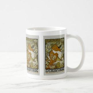 L'Ermitage Art Nouveau Basic White Mug