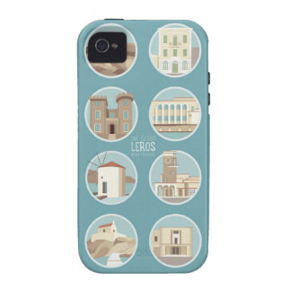 Leros monuments vibe iPhone 4 case