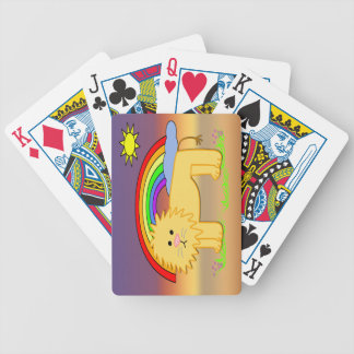 Leroy the Lion Cute Kid s Playing Cards