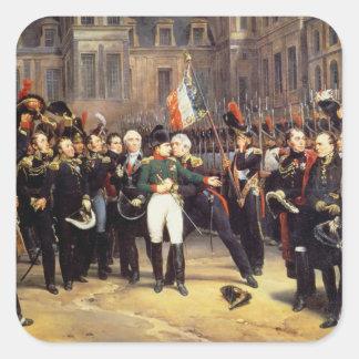 Les Adieux de Fontainebleau, 20th April 1814 Square Sticker