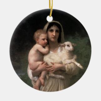 Les Agneaux fine art Christmas Ornament