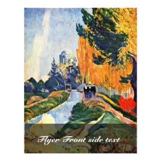 Les Alyscamps By Gauguin Paul (Best Quality) Flyers