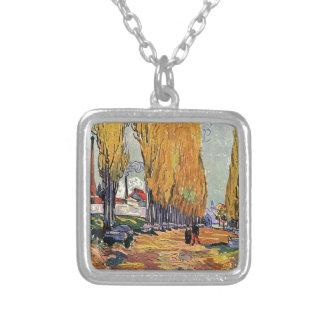 Les Alyscamps by Van Gogh Autumn landscape Necklace