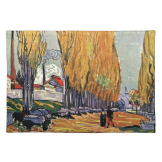 Les Alyscamps by Van Gogh. Autumn landscape Placemat