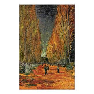 Les Alyscamps by Vincent van Gogh. Fall, autumn 14 Cm X 21.5 Cm Flyer