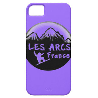 Les Arcs France artistic skier iPhone 5 Cover
