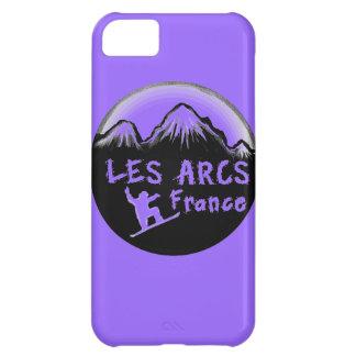Les Arcs France artistic skier iPhone 5C Cases