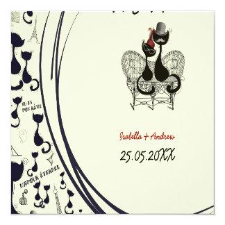 Les Aristochats Noirs - french passion 13 Cm X 13 Cm Square Invitation Card
