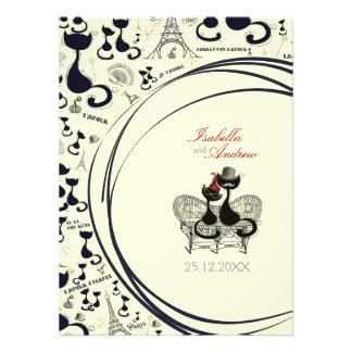 Les Aristochats Noirs - french passion Custom Invitation