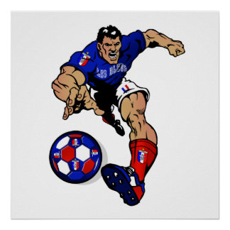 Les Bleus Football player France Fans gifts Poster
