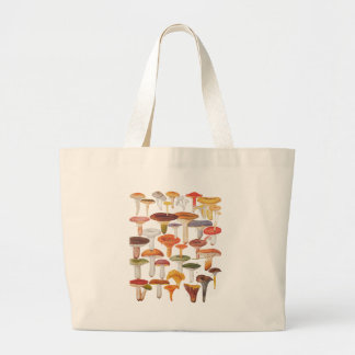 Les Champignons Mushrooms Large Tote Bag